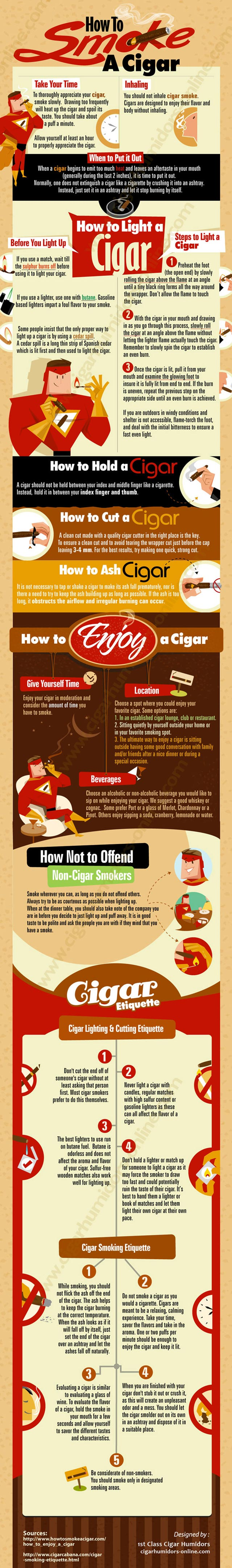 How-To-Smoke-A-Cigar-infographic
